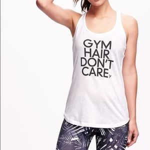 NWT Old Navy Gym Hair Don't Care Racerback Tank